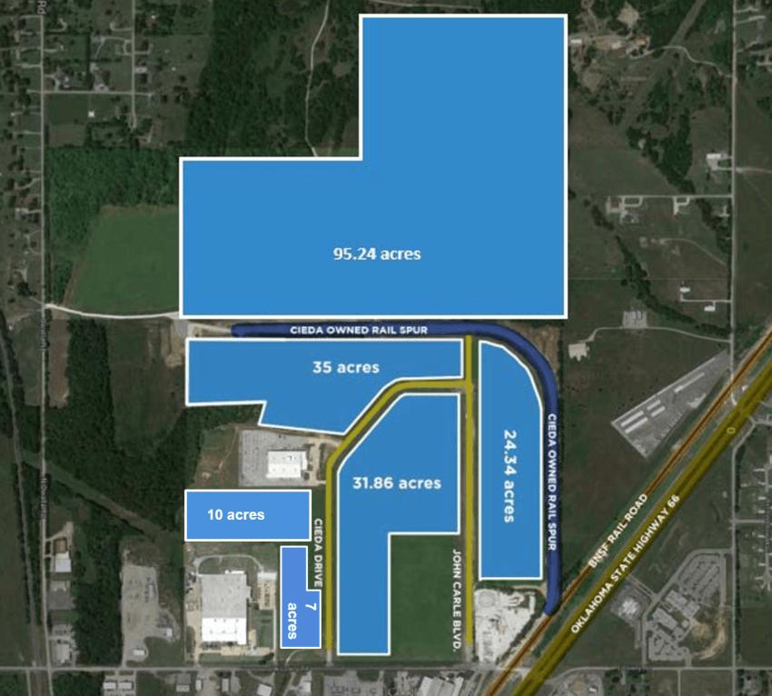 Claremore Industrial Park site map